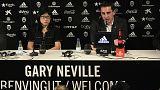 Gary Neville, presentado como nuevo entrenador del Valencia