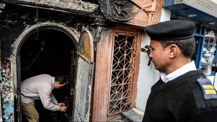 Пожар и стрельба в ночном клубе Каира - криминальные разборки?