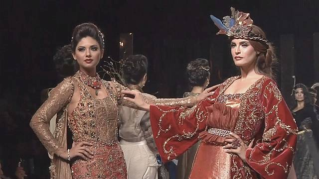 On the catwalk in Karachi and with Chanel in the Cinecitta film studios