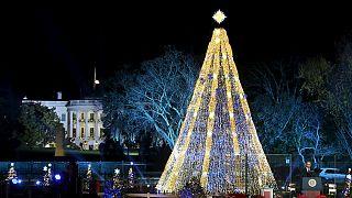 اوباما چراغ های درخت کریسمس کاخ سفید را روشن کرد