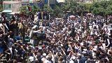 Image: Alleged Taliban members meet Afghan people