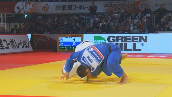 Dünya grand slam judo şampiyonası Tokya'da devam ediyor