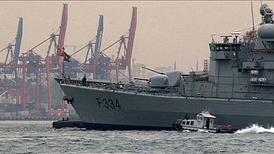 Turkish citizens reassured by NATO ships in Bosphorus