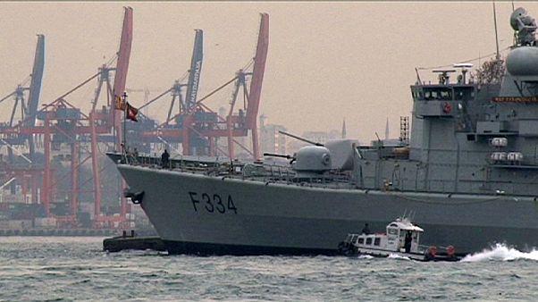 NATO-hajók az isztambuli kikötőben