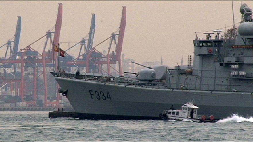 Turkish citizens reassured by NATO ships in Bosphorus