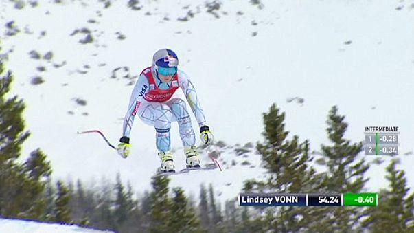 Alpine Skiing: Superb Vonn claims Lake Louise downhill