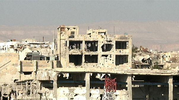 Légicsapások voltak Damaszkusz közelében