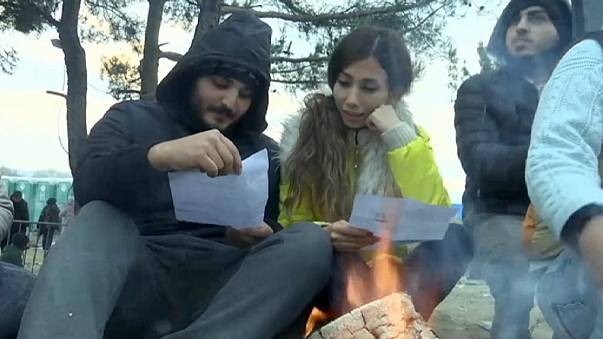 Migrant couple are stuck at Macedonian border - because he's Afghan and she's Iranian
