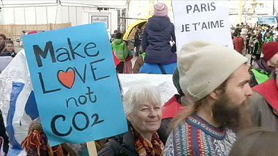Alternative Klimaschützer demonstrieren in Paris