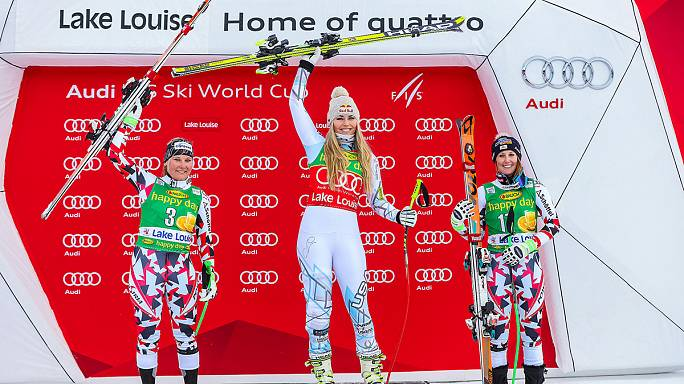 She's the one! Lindsey Vonn claims three wins at Lake Louise
