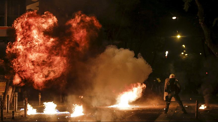 Violent protests mark anniversary of teenager's death in Athens