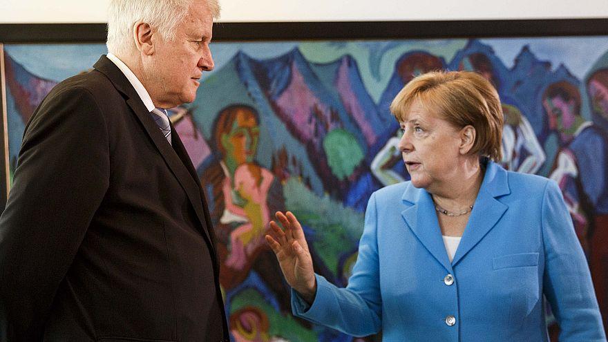 Image: Merkel and Seehofer