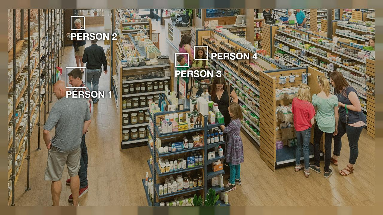 Image: When using Amazon Rekognition to analyze video, you can track people