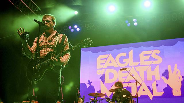 Eagles of Death Metal perform once again on a Paris stage after terror attacks