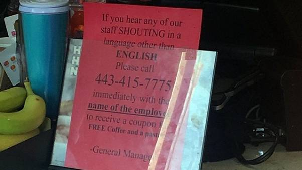 This Dunkin Donuts sign caused an uproar on social media today.