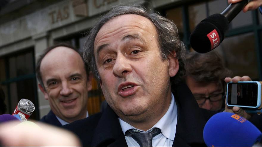 Suspended UEFA president Platini attends CAS hearing