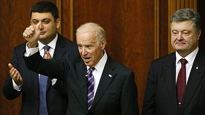 Biden criticises Russia's actions in Crimea during Ukraine parliament address