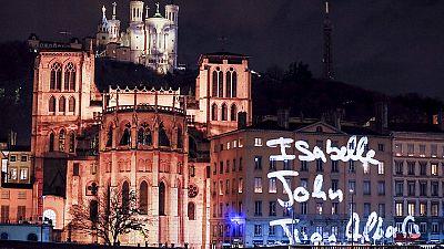 Lyon's festival of lights remembers Paris victims