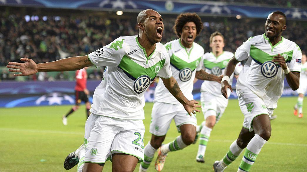 Champions: passano Wolfsburg e PSV, fuori lo United