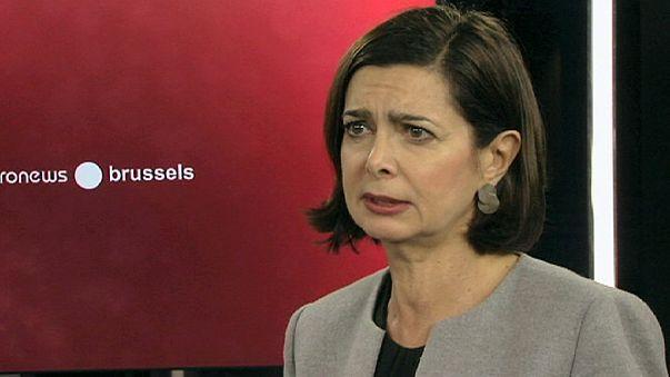 """Laura Boldrini: """"É preciso caminhar para uma União Federal de Estados"""""""
