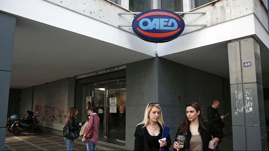 Ligera caída del paro en Grecia