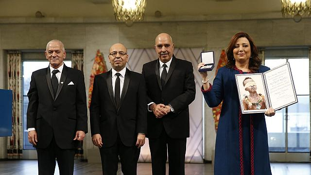 Nobel Peace Prize accepted by Tunisian pro-democracy group