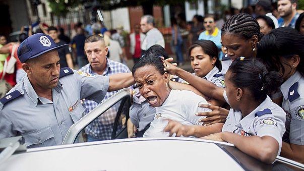 Tüntetés Kubában az emberi jogok napján