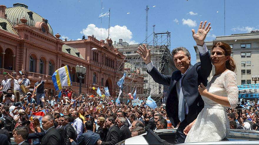 Jubilation and anger as Mauricio Macri becomes Argentina's new president