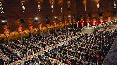 Lavish Stockholm banquet celebrates achievements of Nobel prize winners