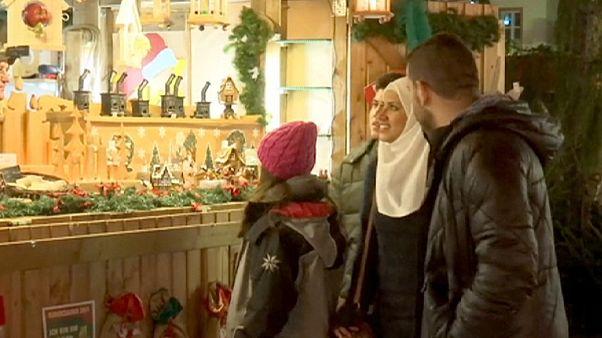 Сирийские беженцы празднуют Рождество по-немецки