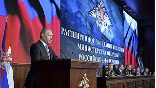 """بوتين: يأمر بالرد """"بمنتهى الحزم"""" على اي تهديد لقواته في سوريا"""