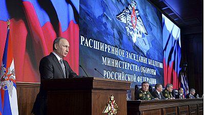 """Putin ordena a su Ejército actuar con """"extrema dureza"""" en Siria"""
