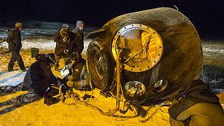 Atterraggio riuscito per la Soyuz che ha riportato sulla Terra un equipaggio dell'Iss