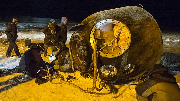ISS crew return to Earth