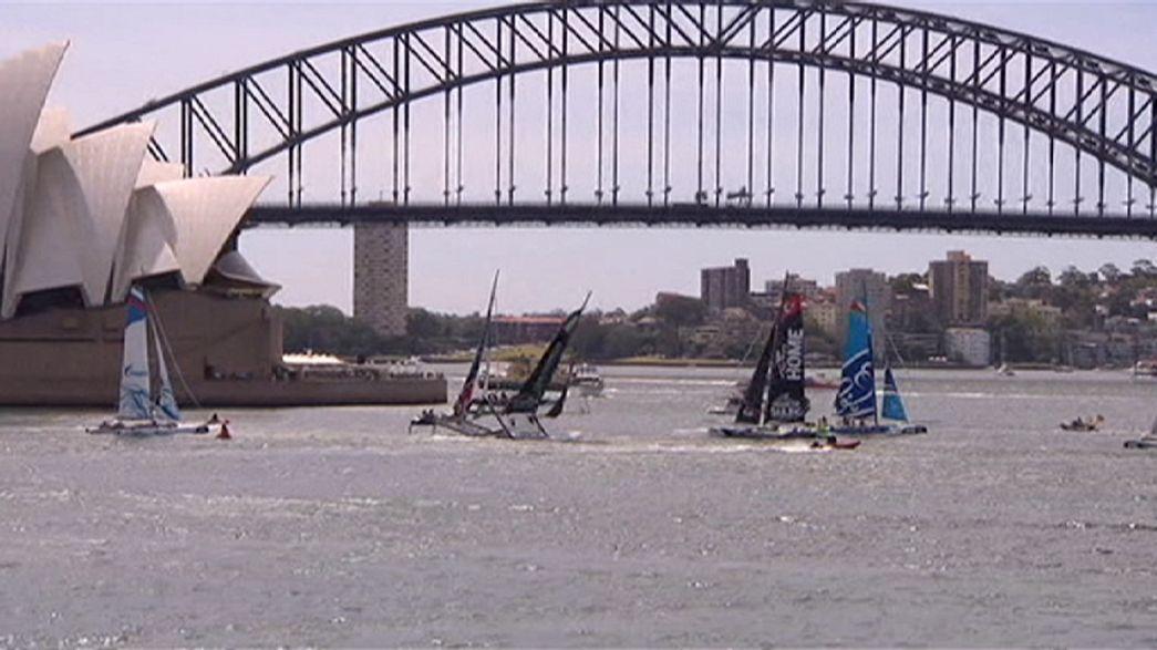 Extreme Sailing Series - The Wave Muscat dominiert vor Sydney