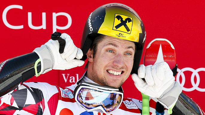 Hirscher triumphs in Val d'Isere
