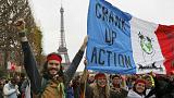 Líneas rojas en las calles de París para marcar los límites en la lucha contra el cambio climático