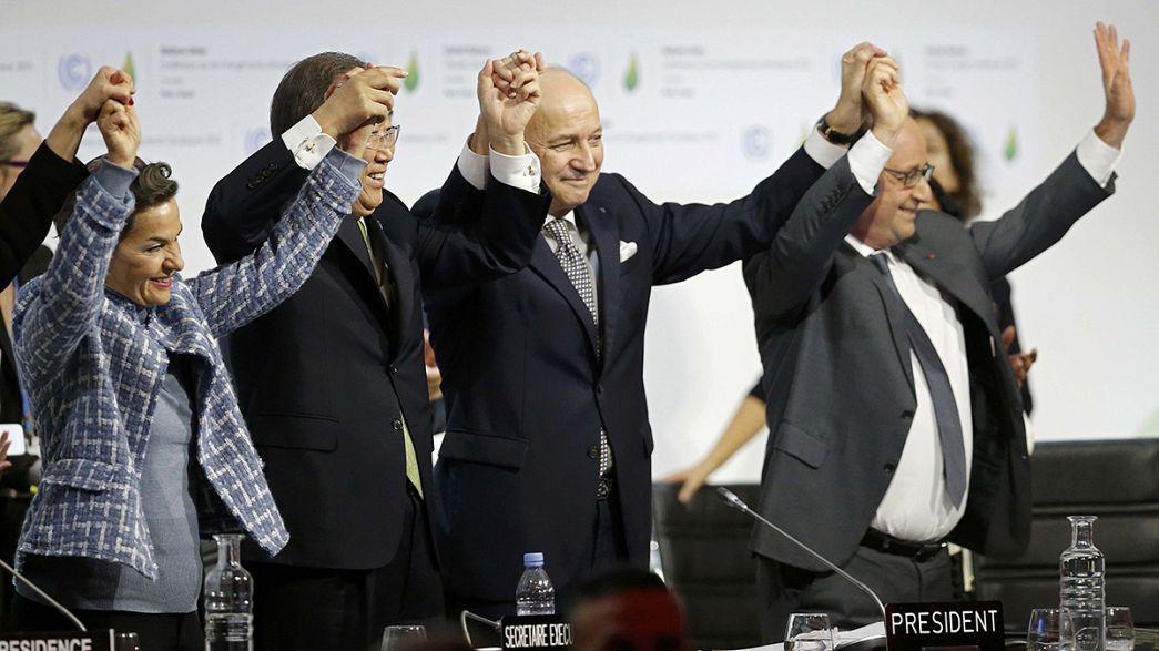 Accord historique pour lutter contre le réchauffement climatique conclu à Paris