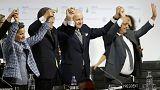 COP21 Delegates vote to adopt historic deal