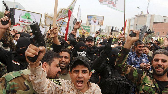 A török katonák visszavonását követelték ezrek Bagdadban