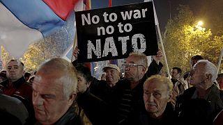 Más de 2 000 personas se manifestaron el sábado en Montenegro contra el ingreso en la OTAN