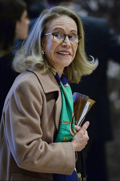 Kathleen White, director of the Armstrong Center for energy and the environment at the Texas Public Policy Foundation, arrives at Trump Tower in New York, on Nov. 28, 2016.