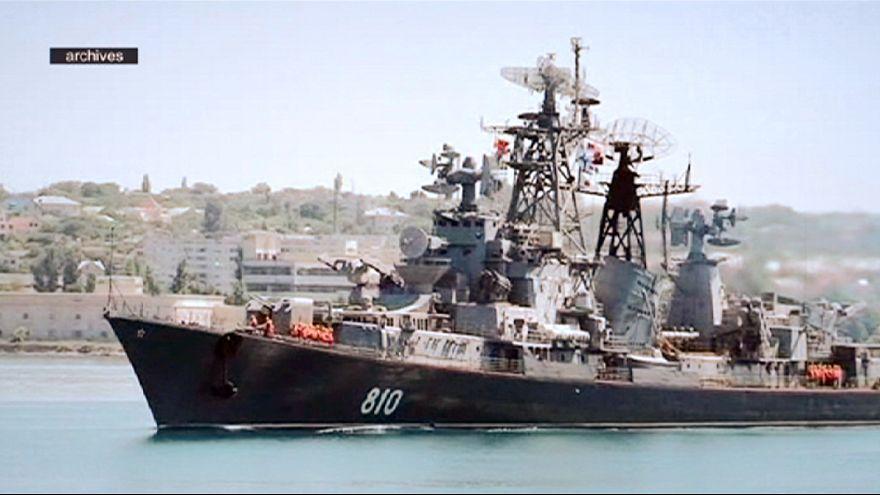 Navio de guerra russo dispara na direção de barco turco