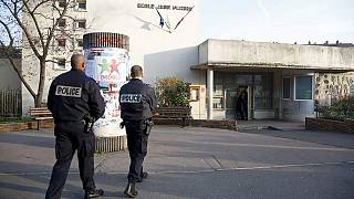 """French police hunt for man who stabbed teacher as a """"DAESH warning"""""""