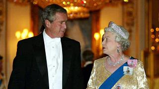 Image: President George W. Bush met the queen in 2003 despite anti-Iraq war