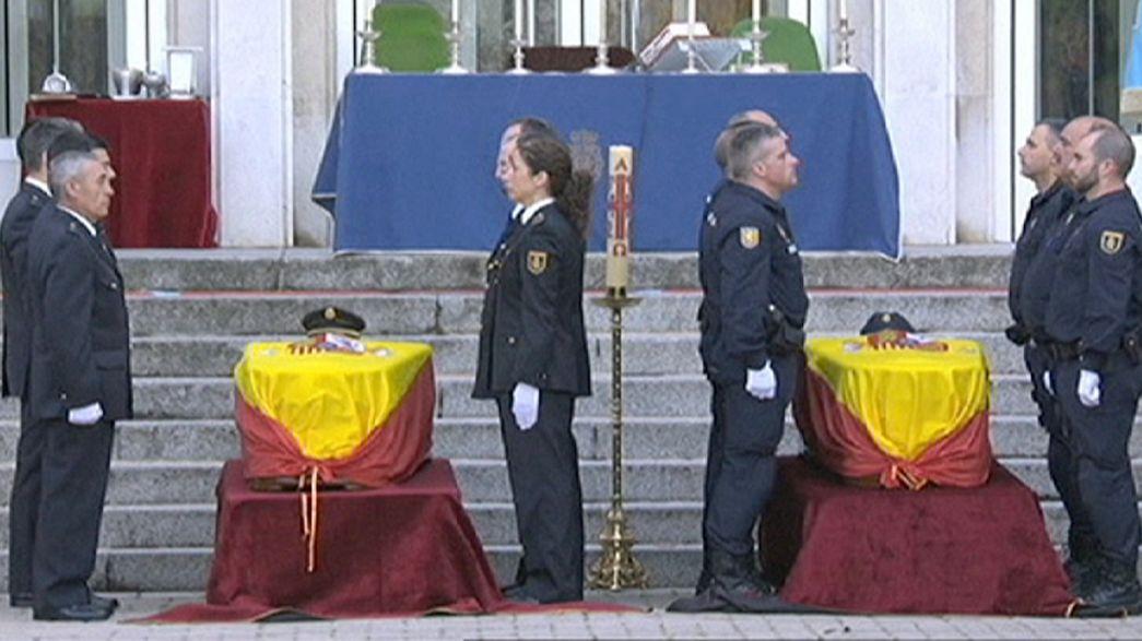 Eltemették a Kabulban meggyilkolt spanyol rendőröket