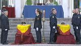 Afganistan'da hayatını kaybeden İspanyol askerlerine devlet töreni