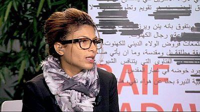 La mujer del bloguero saudí Raif Badawi recoge el premio Sájarov