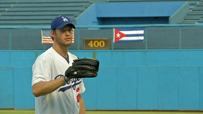 Cuban baseball stars return home for goodwill tour