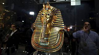 Tutankhamun's mask is back on display in all its splendor